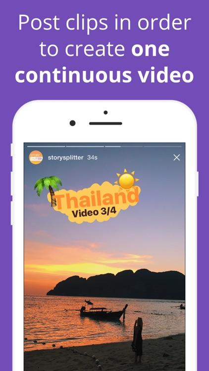 Story Splitter - Post longer Stories for Instagram