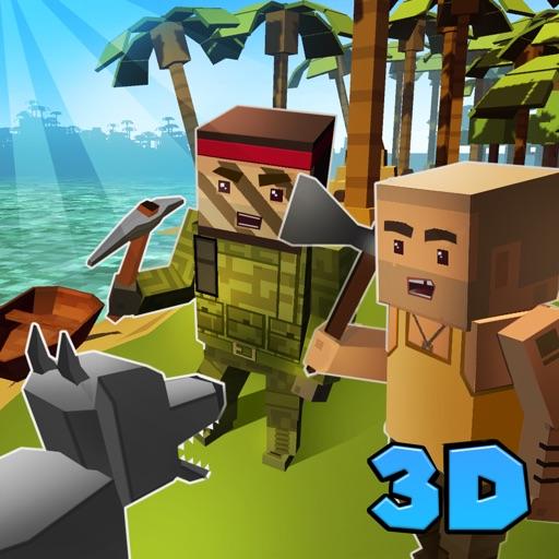 Pixel Island Survival Simulator 3D Online