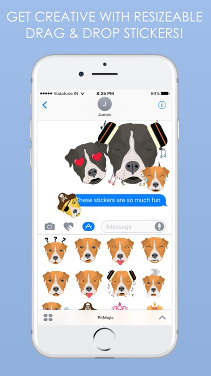 PitMojis - Pit Bull Emoji & Stickers screenshot-3