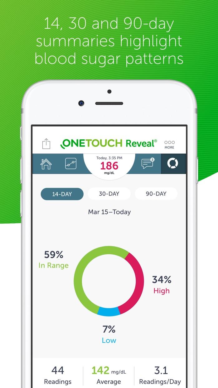 OneTouch Reveal Screenshot