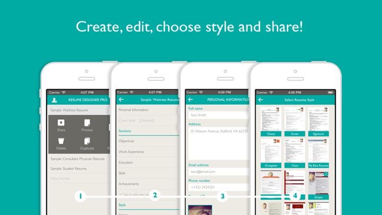 Resume Designer Pro: Produce elegant Resumes