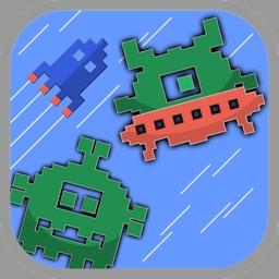 Spaceship Jump Pixel