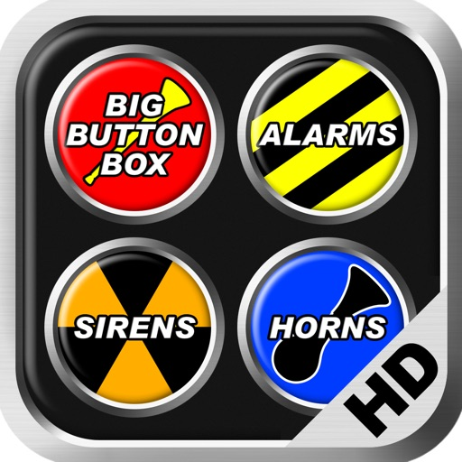 Big Button Box: Alarms, Sirens & Horns HD - sounds