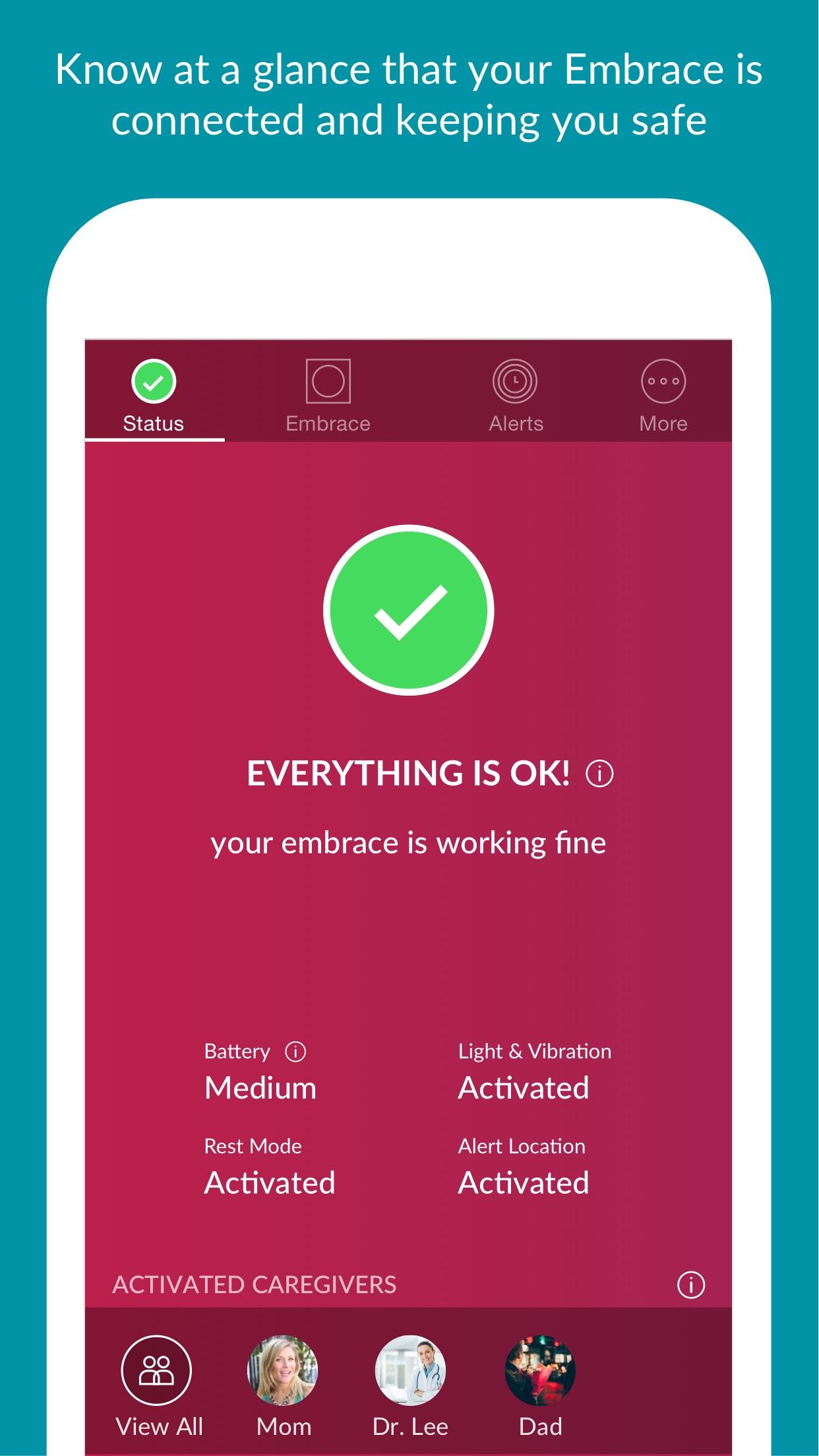 Alert App - Epilepsy Monitor for Embrace Watch Screenshot