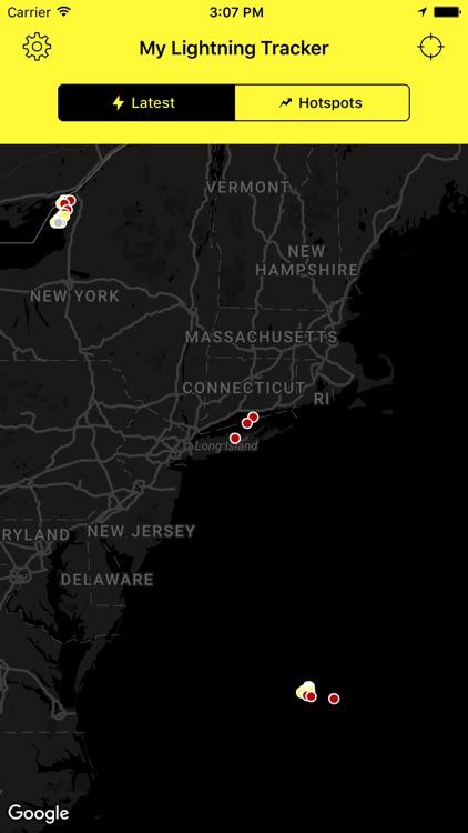 My Lightning Tracker - Live Thunderstorm Map screenshot-3
