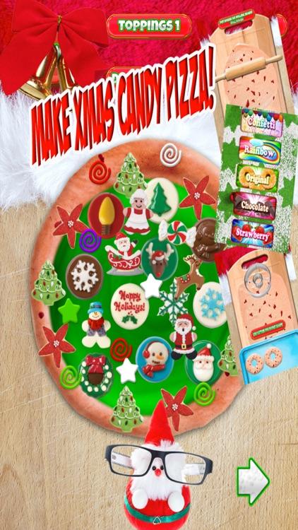 Christmas Candy Pizza Maker Dessert Chef Cooking screenshot-3