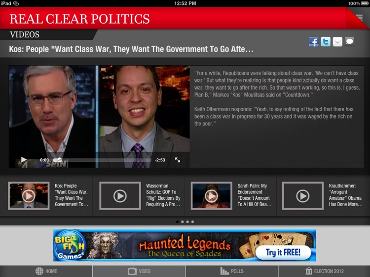 Real Clear Politics for iPad screenshot-3