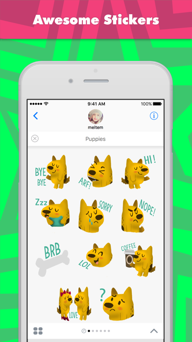 Puppies stickers by meltem