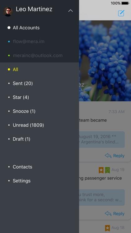 Flow - tames your mobile inbox screenshot-3