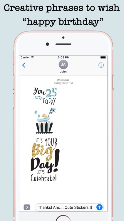 Happy Birthday Card Wishes For iMessage