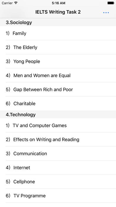 IELTS Writing Topics & Samples screenshot two
