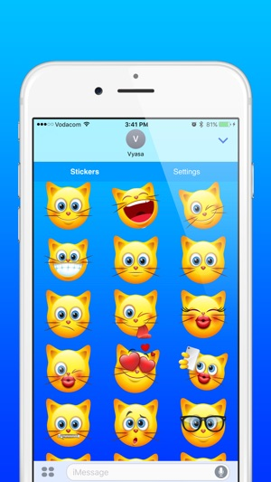 cat emoji cute kitty emoticon stickers on the app store
