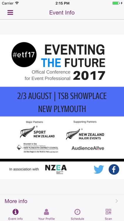 Eventing the Future 2017 App