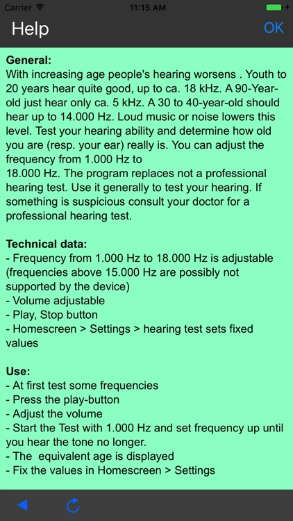 Audiometry (1-18 kHz)