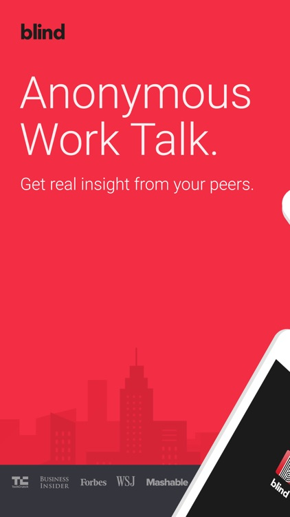 Blind - Anonymous Work Talk