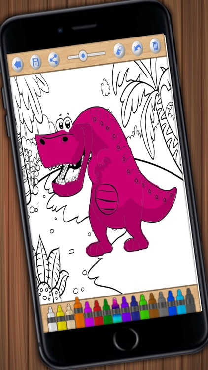 Dinosaurs to paint – magical coloring book - PRO screenshot-3