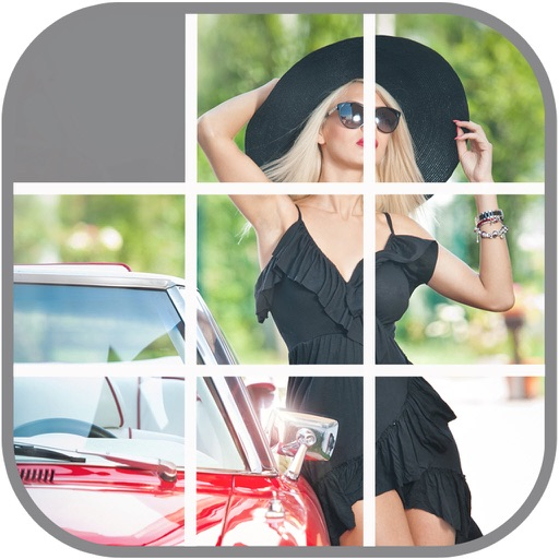 Hot Babes in Hot Cars Sliding Puzzle iOS App