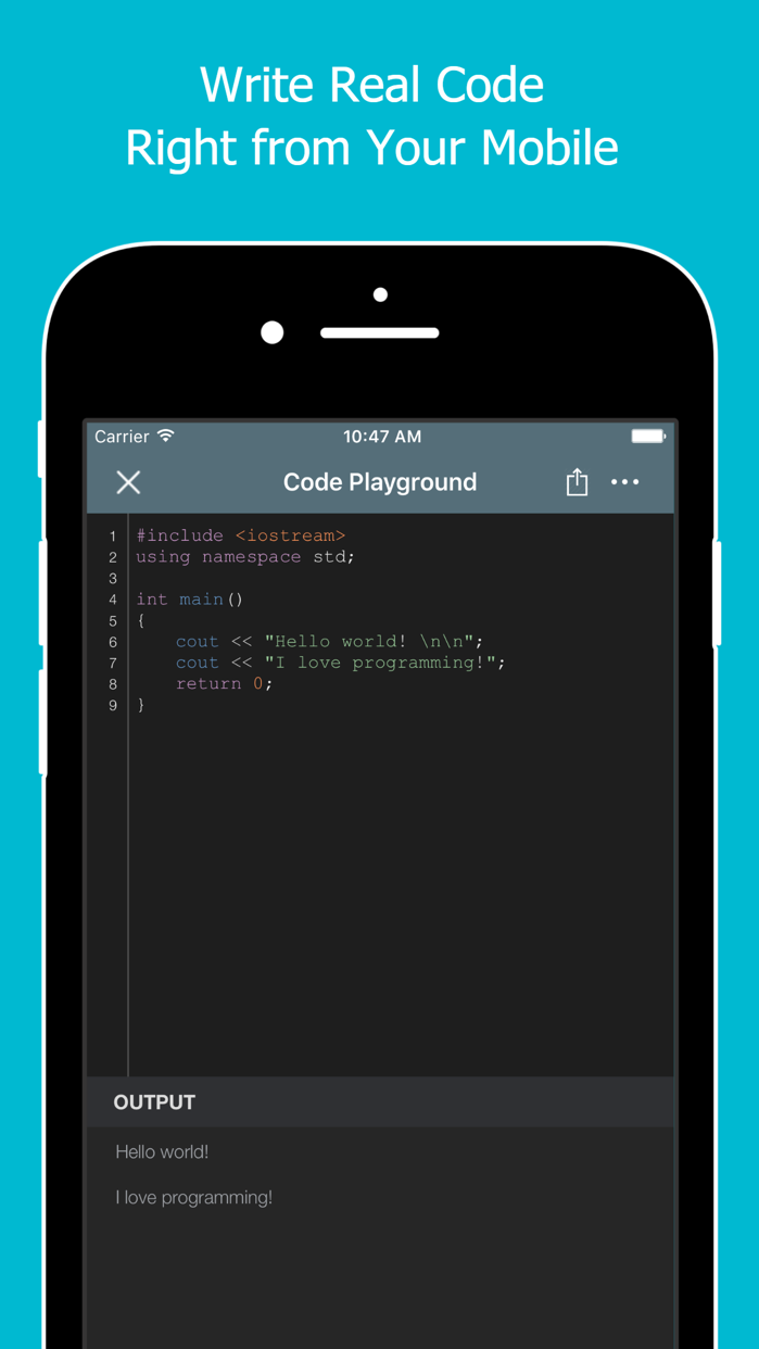 Learn to Code with C++ Screenshot