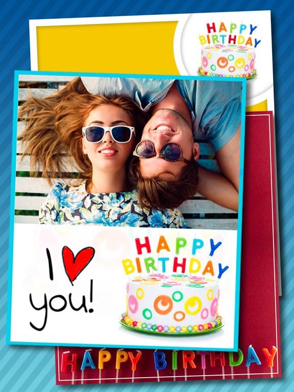 Screenshot 1 For Birthday Greeting Cards Photo Editor Pro