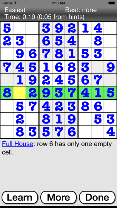 :) Sudoku screenshot three