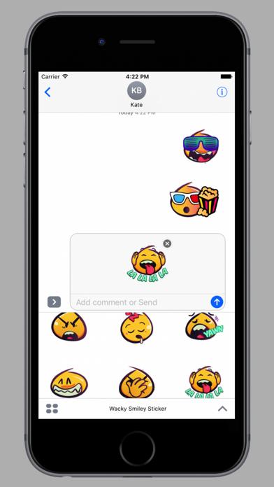 Wackey Smiley Sticker screenshot 2