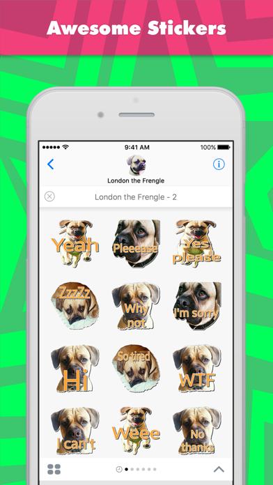 点击获取London the Frengle - 2 stickers for iMessage