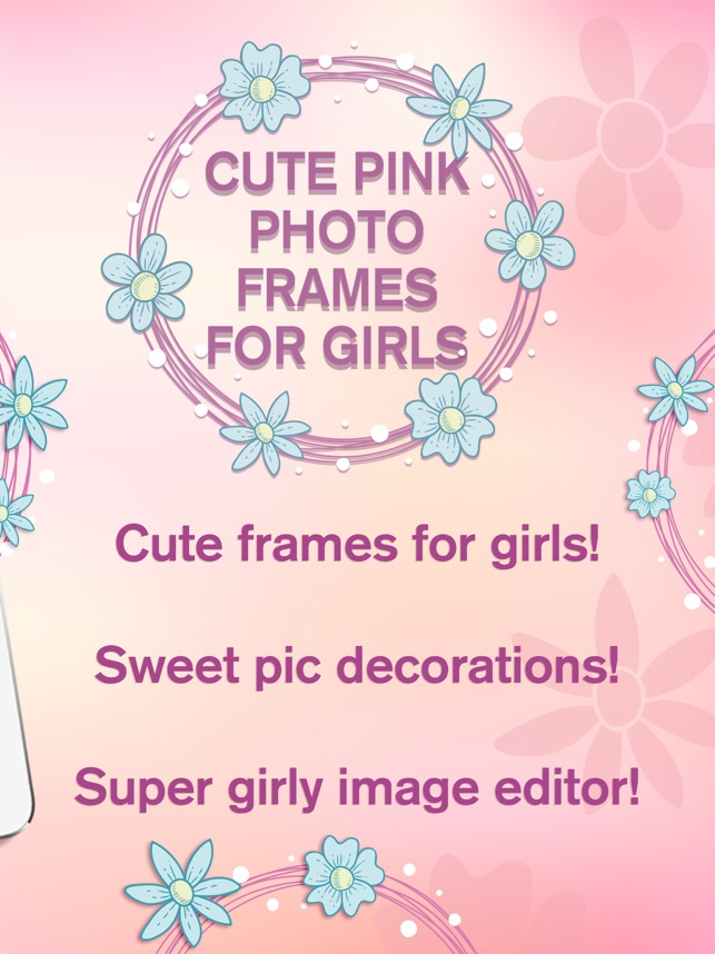 Cute Pink Photo Frames for Girls – Picture Editor on the App Store