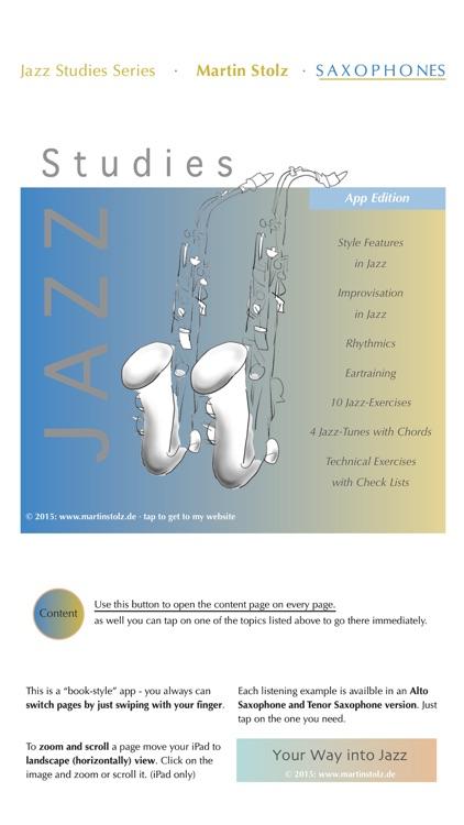 Jazz Studies Saxophones English Version screenshot-0