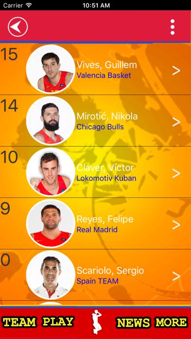 Spanish Basketball Team screenshot 2