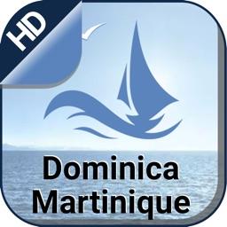 Dominica & Martinique nautical charts for sailing