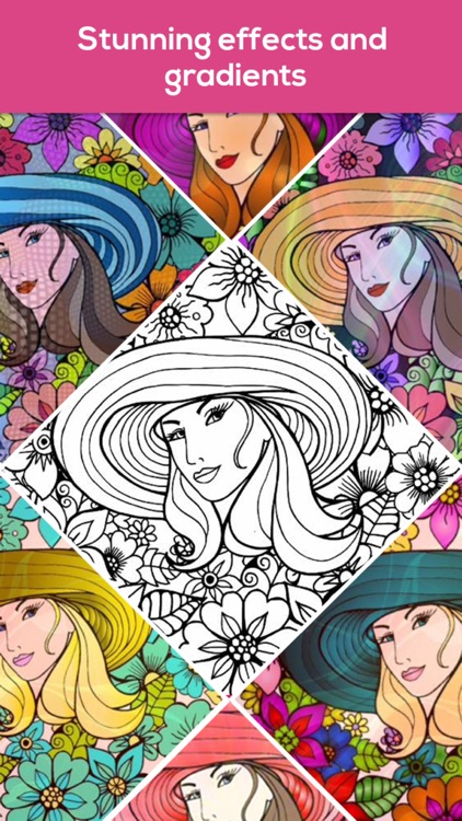 Coloring book for adults iColor & coloring pages screenshot-3