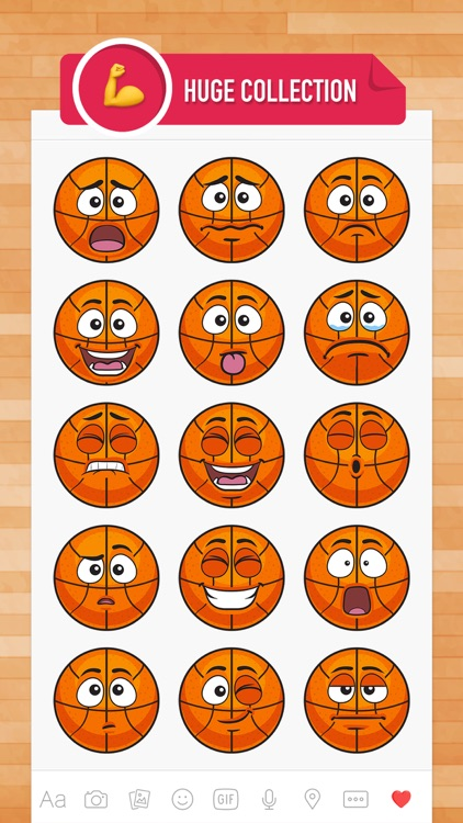 BasMoji - basketball emoji & stickers keyboard app screenshot-1