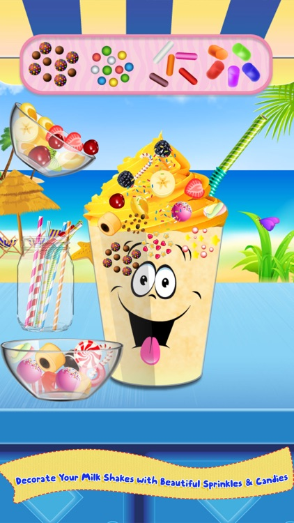 Milkshake Cooking Master-Beach Restaurant Party screenshot-4