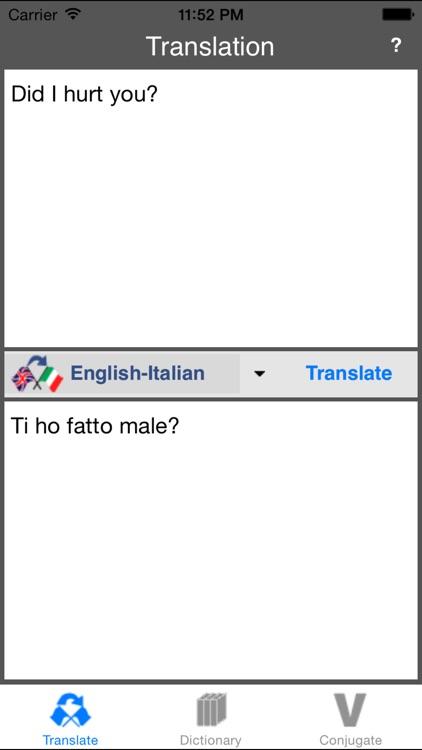 English-Italian Translator (Offline) screenshot-3