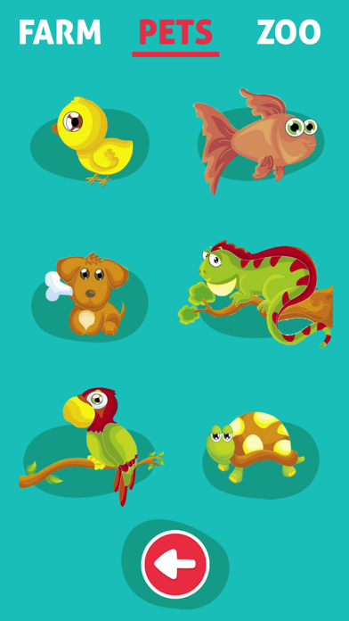 Cute Animals - Learn Animal Sounds, Noises & Names screenshot two