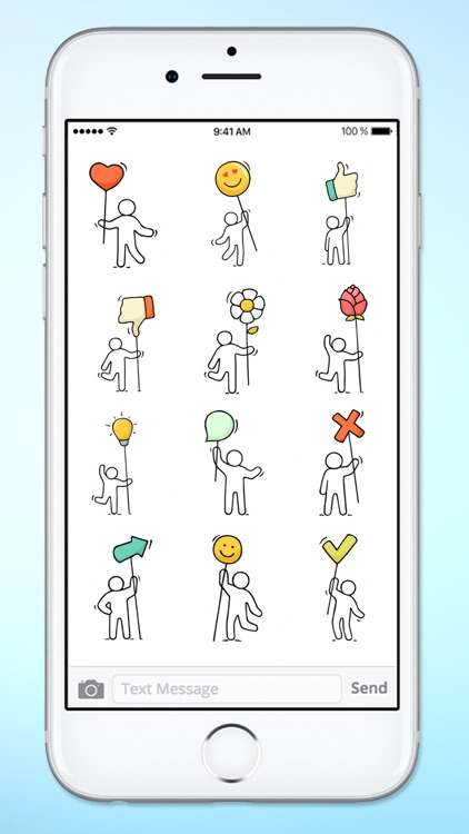 Stick Figure Emoji Icon Sticker Pack screenshot-2