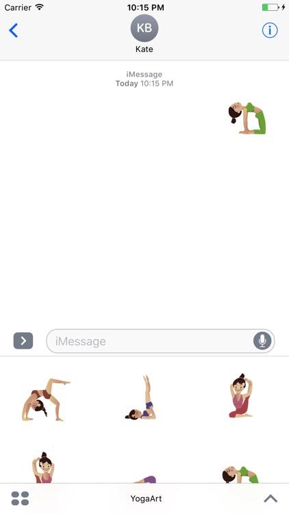 Yoga Art Stickers