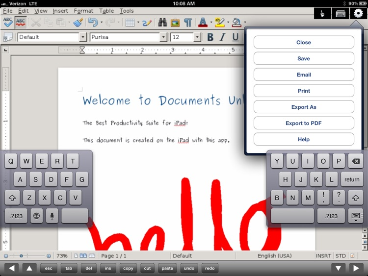 Docs U - Edit Office & Word Documents for iPad screenshot-0