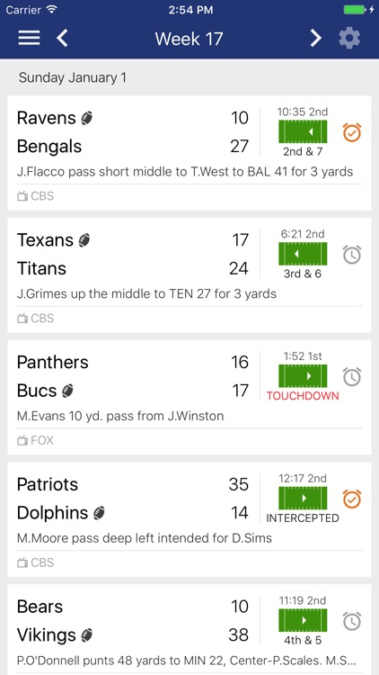 Football Schedules, Scores, & Stats - NFL edition
