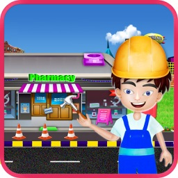 Pharmacy Construction – Shop Builder Game