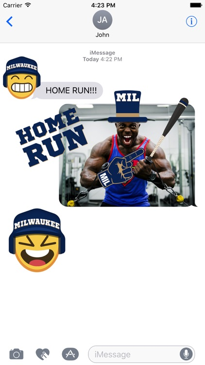 Milwaukee Baseball Stickers & Emojis screenshot-1
