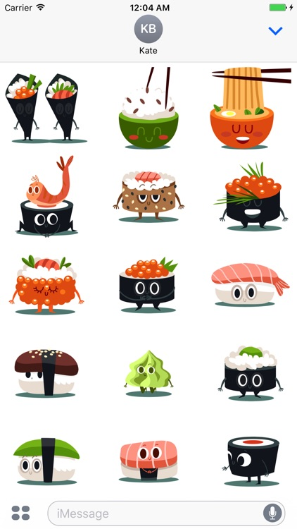 Sushi and Chinese Food Emojis