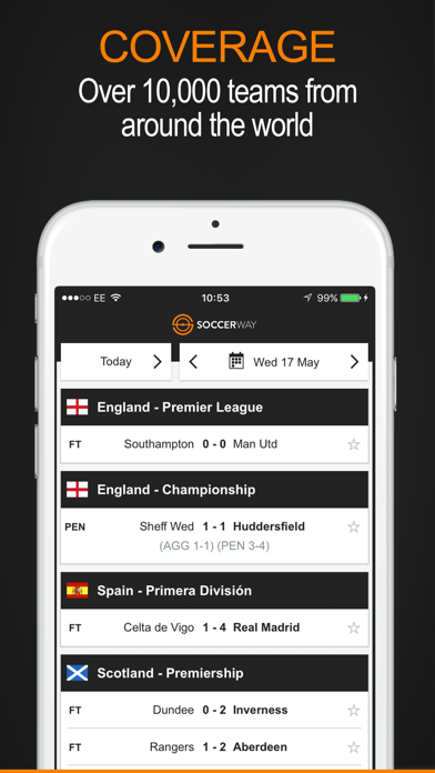 Soccerway by Perform Group (iOS, United Kingdom) - SearchMan