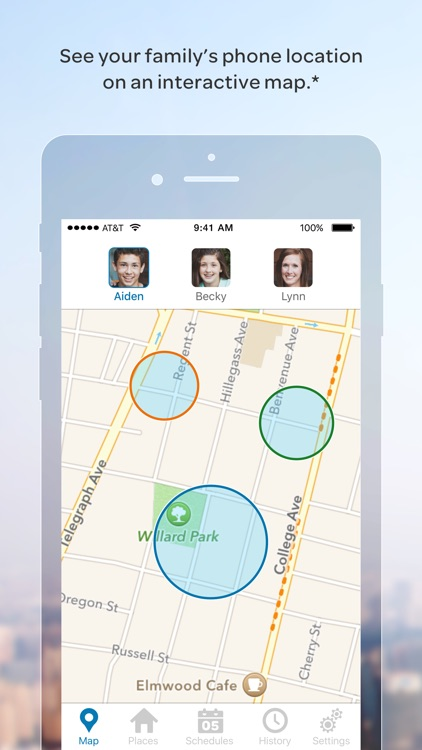 what is at&t family map app