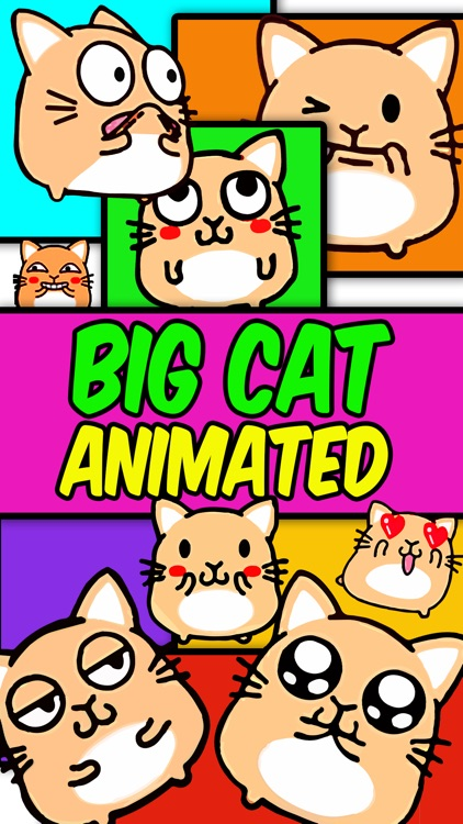 Big Cat: Animated Stickers