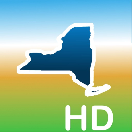 Aqua Map New York NY Lakes HD- GPS Nautical Charts