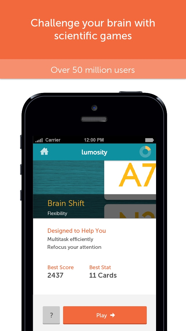 Screenshot for Lumosity – allenamento mentale in Italy App Store