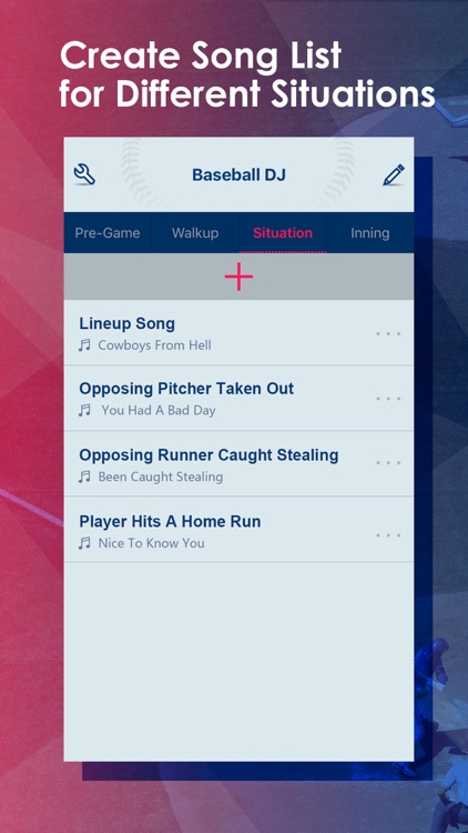 Baseball DJ - create ballpark walk up songs list screenshot-2
