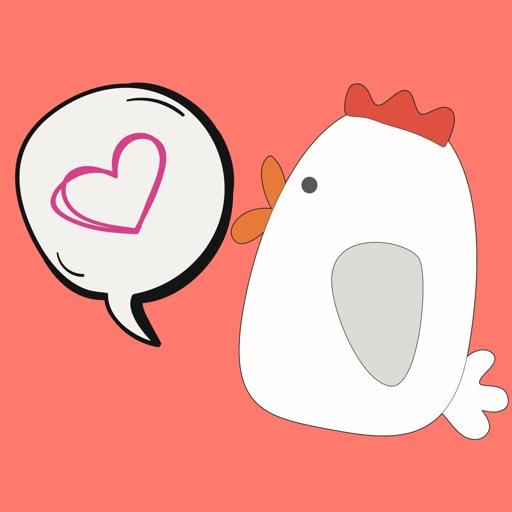 Chicken Scratch: Fun Animated Emoji Stickers