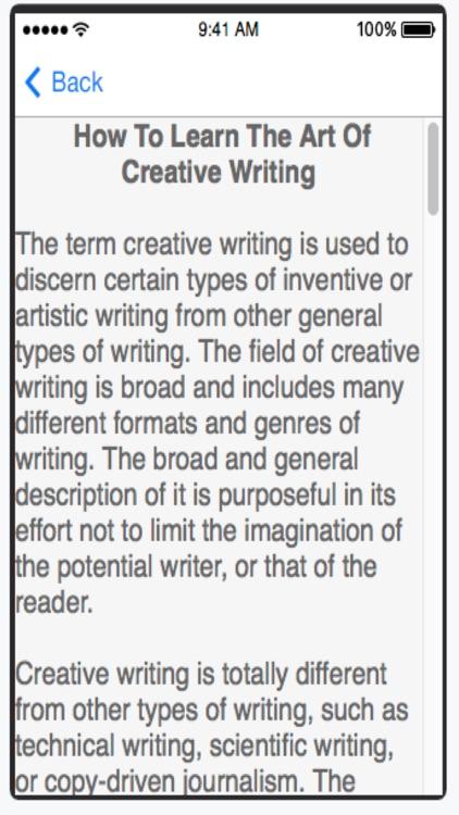 Creative Writing screenshot-3